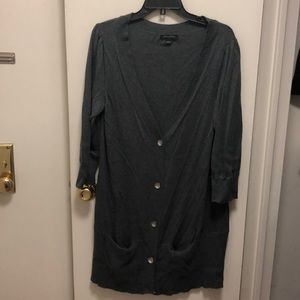 Banana Republic Long Gray Cardigan/Sweater- LRG